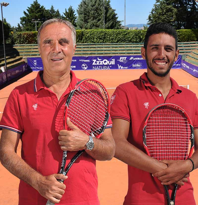 Scuola Tennis TC Perugia Romeo Lavoratori Federico Rosi copertina